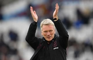 West Ham manager and Everton target David Moyes claps the fans