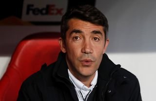 Former Benfica manager and Wolves target Bruno Lage in the dugout