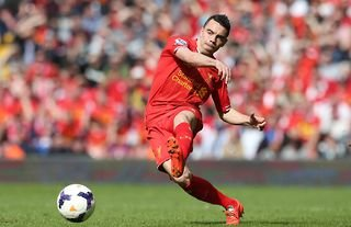 Iago Aspas in action during his time at Liverpool