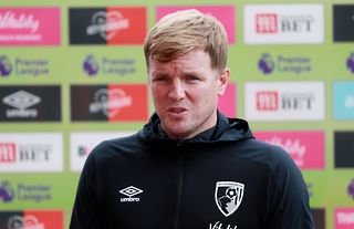Former Bournemouth manager and Everton target Eddie Howe speaking to the media
