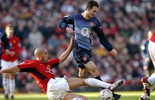 Francis Jeffers in action during his time at Arsenal
