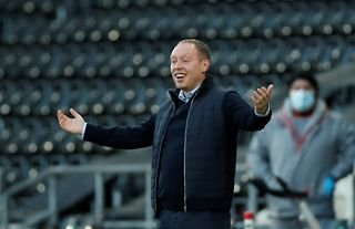 Swansea manager and Crystal Palace target Steve Cooper looking bemused