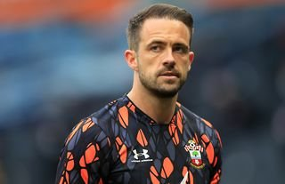 Danny Ings warming up for Southampton amid speculation over a move to Tottenham