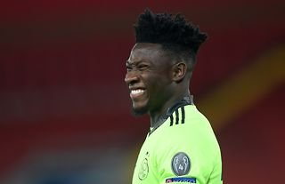 Andre Onana in action for Ajax amid speculation over a move to Arsenal