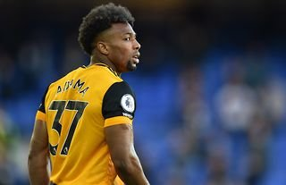 Adama Traore in action for Wolves amid speculation over a move to Chelsea