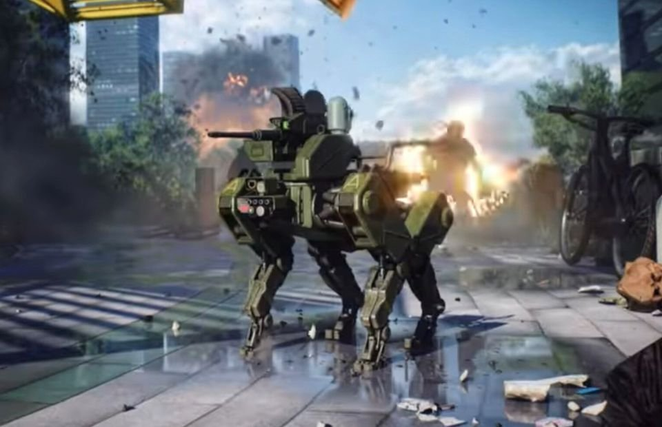 Battlefield 2042: Robot dogs spotted during world reveal trailer - GIVEMESPORT