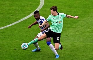 Florian Neuhaus in action for Borussia Monchengladbach amid speculation over a move to Liverpool