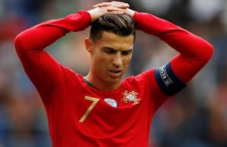 Ronaldo bemoans a missed opportunity for Portugal.