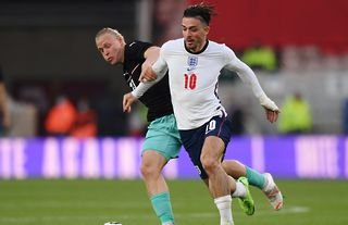 Jack Grealish in action for England
