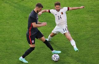 Borna Barisic in action with Dries Mertens