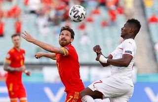 Sheffield United target Joe Allen in action for Wales at Euro 2020