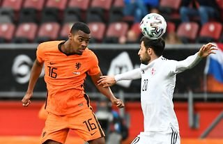 Ryan Gravenberch in action for the Netherlands amid speculation over a move to the Premier League