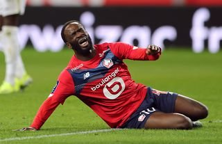 Jonathan Ikone in action for Lille amid speculation over a move to Liverpool