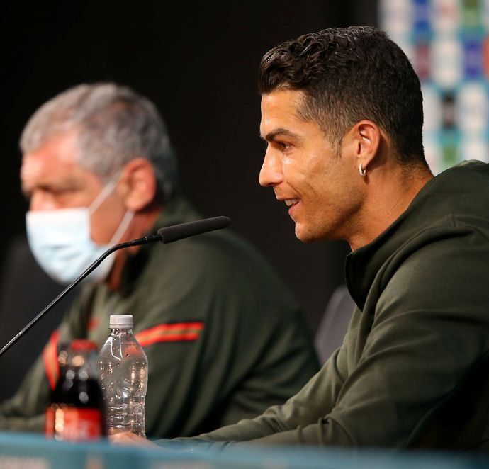 Portugal's Cristiano Ronaldo couldn't stand Coca Cola being at Euro 2020 press conference | GiveMeSport