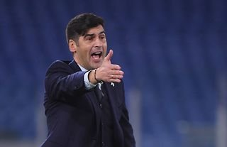 Former Roma manager and Tottenham target Paulo Fonseca looking animated