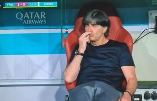 Joachim Low was caught 'sniffing' his fingers again in France vs Germany