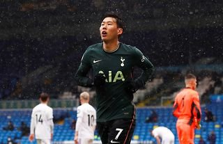 Son Heung-min in action for Tottenham Hotspur