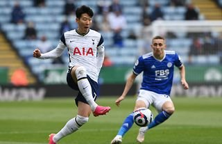 Heung Min Son in action for Tottenham amid speculation over a new contract