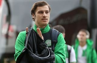 Erik Sviatchenko arrives for Celtic before playing an Old Firm derby against Rangers