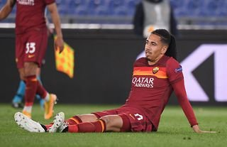 Roma defender and Everton target Chris Smalling going down injured once again