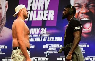 Tyson Fury and Deontay Wilder face to face ahead of their third fight on 24th July 2021.