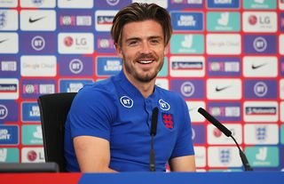 Jack Grealish in media duty for England