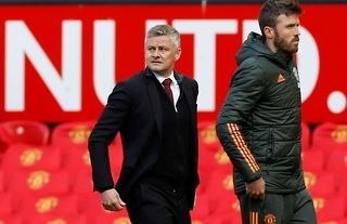 Ole Gunnar Solskjaer on the sidelines for Man United amid speculation that Kieran Trippier could join the Red Devils