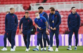 Kieran Trippier with his England teammates amid speculation over a move to Man United