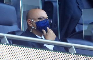 Daniel Levy in the stands as Tottenham manager search rumbles on