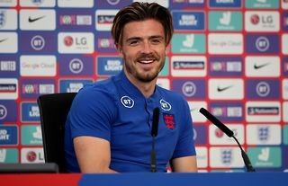 Jack Grealish during a press conference for England amid speculation over a transfer away from Villa