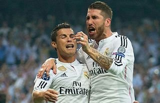 Cristiano Ronaldo and Sergio Ramos in action for Real Madrid