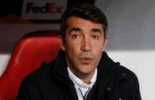 New Wolves manager Bruno Lage looking relaxed on the bench