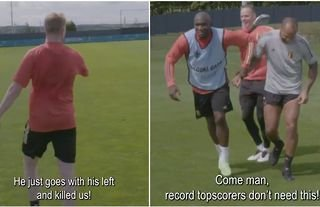 Thierry Henry produced some brilliance in Belgium training
