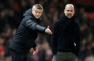 Manchester City and Manchester United managers Ole Gunnar Solskjaer and Pep Guardiola