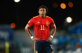 Adama Traore playing for Spain