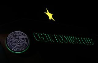 General view of the Celtic Football Club Crest outside of Parkhead
