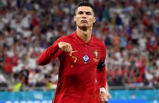 Cristiano Ronaldo is currently the top scorer at Euro 2020