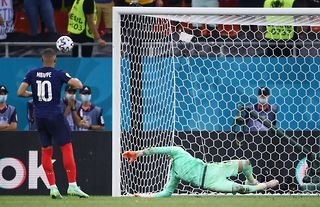 France's Mbappe missed his Euro 2020 penalty vs Switzerland.