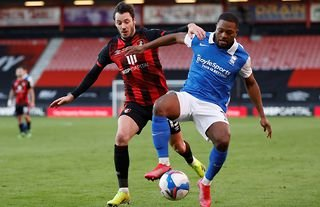Birmingham City in action against AFC Bournemouth in the Championship