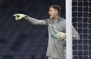 Conor Hazard in action for Celtic
