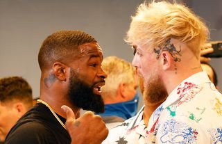 Tyron Woodley (left) and Jake Paul (right) will face off on Saturday 28th August 2021.