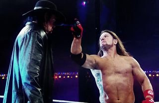 AJ Styles & The Undertaker exchanged gloves at WrestleMania 36