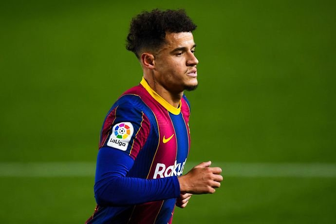 Coutinho in action for Barcelona