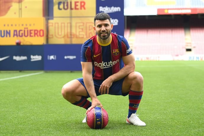 Sergio Aguero signed for Barcelona earlier this summer