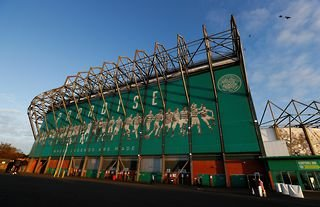 Outside view of Celtic's ground ahead of Europa League game