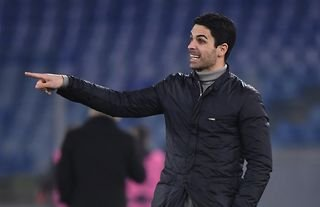 Arsenal manager Mikel Arteta on the touchline in the Europa League
