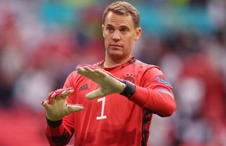 Manuel Neuer in action for Germany