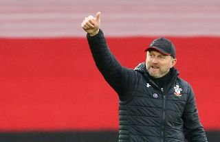 Southampton manager Ralph Hasenhuttl giving the thumbs-up