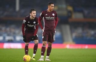 James Maddison and Youri Tielemans playing for Leicester City