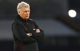 West Ham manager David Moyes with his arms folded